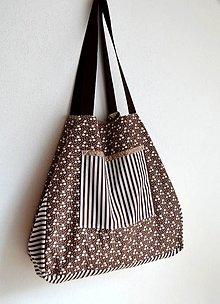 Veľké tašky - Veľká hnedá maxitaška - obojstranná - 13548313_