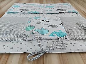 Textil - Vreckár na postieľku ... verlyby mentolové - 13547458_