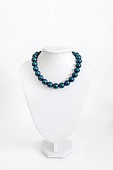 Náhrdelníky - perlový náhrdelník - BIG (odtieň petrol) - 13548197_