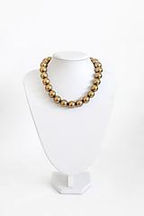 Náhrdelníky - perlový náhrdelník - BIG (odtieň antique brass) - 13548207_