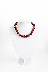 Náhrdelníky - perlový náhrdelník - BIG (odtieň black berry) - 13548209_
