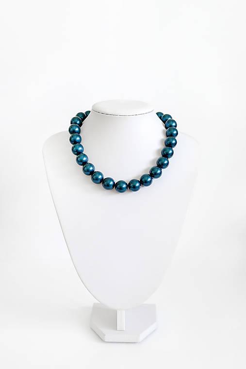 perlový náhrdelník - BIG (odtieň petrol)