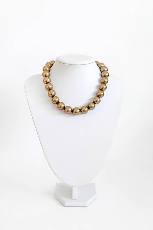 perlový náhrdelník - BIG (odtieň antique brass)