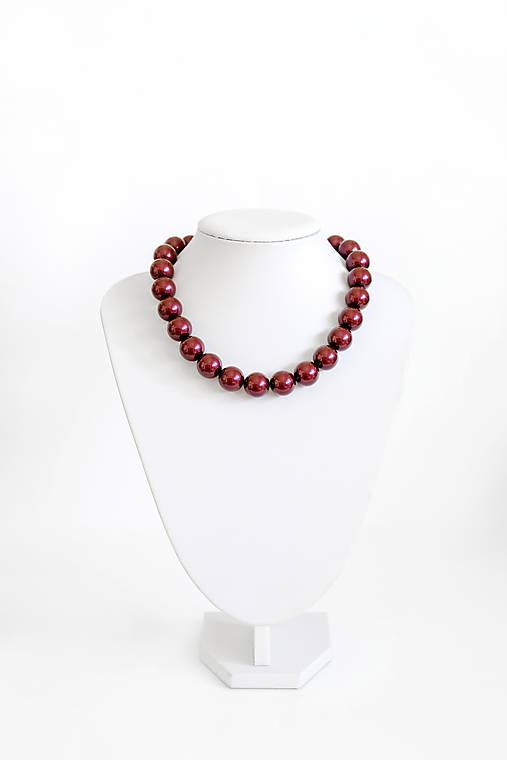 perlový náhrdelník - BIG (odtieň black berry)