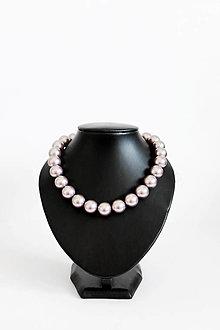Náhrdelníky - perlový náhrdelník - BIG (odtieň mauve) - 13548195_