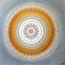 Obrazy - Mandalka ĽAHKOSŤ BYTIA 50 x 50 (60 x 60 cm) - 13548853_