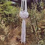 - Makramé závesný kvetináč LUNA (A) - 13547296_