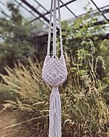 Dekorácie - Makramé závesný kvetináč LUNA (H) - 13547302_