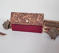 Peňaženky - Dámska korková peňaženka - 13548432_