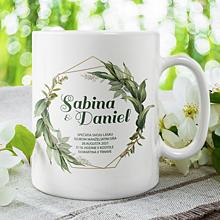 Darčeky pre svadobčanov - SVADOBNÉ OZNÁMENIE 3 keramický hrnček - 13549052_