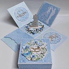 Papiernictvo - Svadobná darčeková krabička - 13549197_
