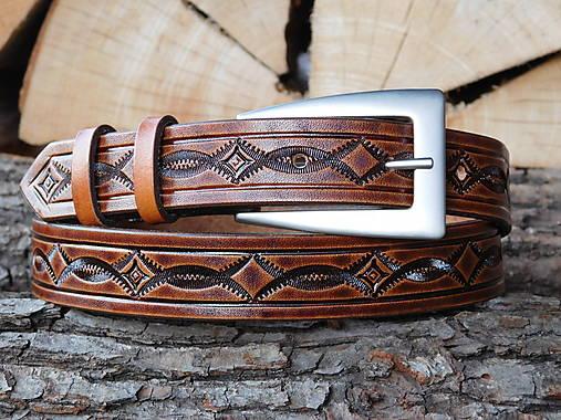 Kožený opasok 2,5 cm - Prepletanec