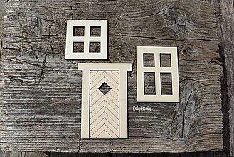 Dekorácie - výrezy na želanie...okná a dvere na domčeky - 13550253_