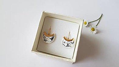 Náušnice - Porcelánové náušničky - 13550005_
