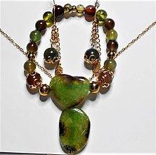 Sady šperkov - Achátové drúzy - 13550973_