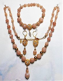 Sady šperkov - Slnečný kameň - 13550994_