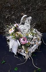 Dekorácie - Srdce na hrob - 13550123_