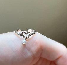 Prstene - prsteň srdce, svadba - 13550229_