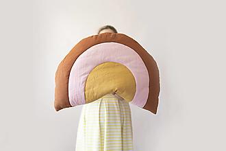 Úžitkový textil - Dúha z ľanu veľkosť L - 13549688_