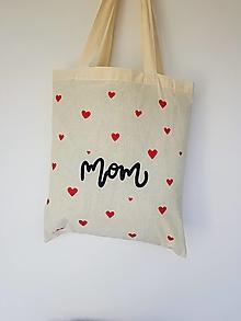 Nákupné tašky - •ručne maľovaná plátená taška - Mama• (B) - 13549911_