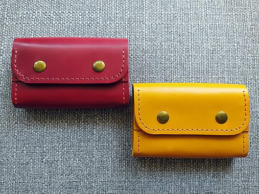 Peňaženky - Dámska kožená peňaženka malá - 13550220_