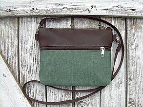 """Taštičky - """"mini city bag 3in1- green"""" -ľadvinka+taška - 13550596_"""