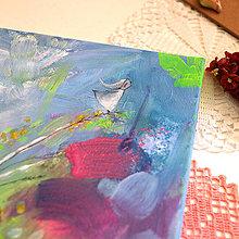 Obrazy - Dievča z kláskov/ maľba na plátne - 13553343_