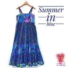 Šaty - Maxi modré leto - 13553535_