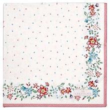 Papier - Servítka G 122- Belle white large- novinka - 13552307_