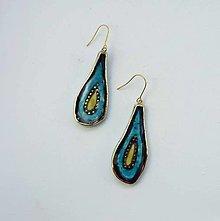 Náušnice - Tana šperky - keramika/zlato - 13553192_