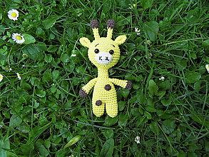 Hračky - Milá háčkovaná žirafka :-) - 13553229_