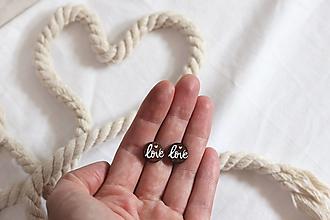 Náušnice - Drevené maľované náušnice Láska (love) - 13552691_