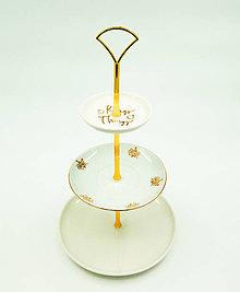 Nádoby - etažér zlatý prsteň - 13551852_