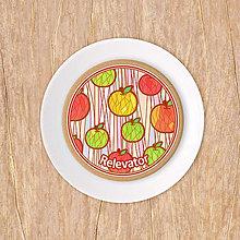 Dekorácie - Grafika potlač na koláč -  vzor jablko - 13553742_