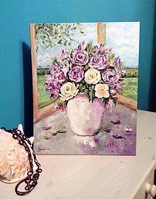 Obrazy - Zátišie s ružami - 13556099_
