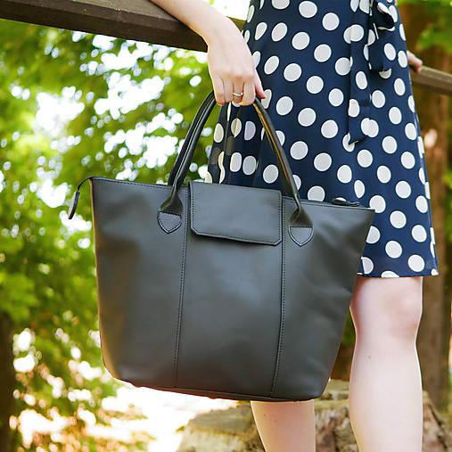 Veľké tašky - Kožená kabelka - Nora Mura - 13555706_