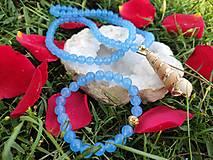 Set náhrdelník & náramok ,,Morská modrá,,