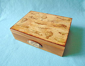 Krabičky - Drevená krabička Vzduchoplavba - 13554699_
