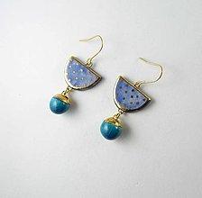 Náušnice - Tana šperky - keramika/zlato - 13554413_