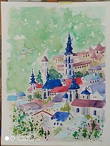Obrazy - Banská Štiavnica ,akv.1 - 13555679_