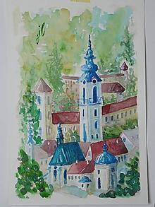 Obrazy - Banská Štiavnica ,akv.2 - 13555686_