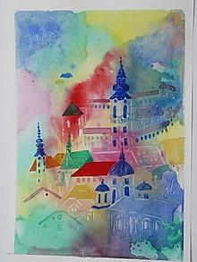 Obrazy - Banská Štiavnica ,akv.3 - 13555740_