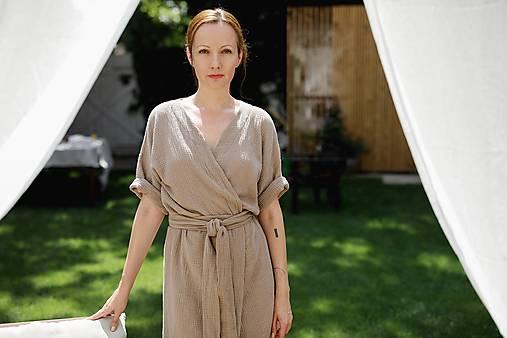 Šaty - miljö mušelínové šaty - mjuk - 13556114_