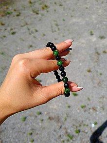 Šperky - Pánsky náramok Chromdiopsid a ónyx - 13555327_