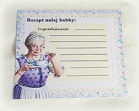 Papiernictvo - Kartička na recept - 13554649_
