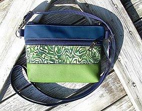"""Taštičky - """"mini city bag 3in1- blue+green"""" -ľadvinka+taška - 13554897_"""