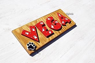 Tabuľky - menovka pre psa - 13556561_