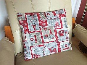Úžitkový textil - vianočný vankúšik - 13557597_