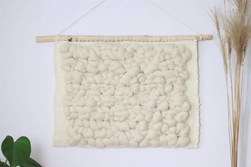 Ručne tkaná vlnená tapiséria, vlnený obraz