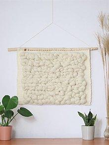 Dekorácie - Ručne tkaná vlnená tapiséria, vlnený obraz - 13556414_